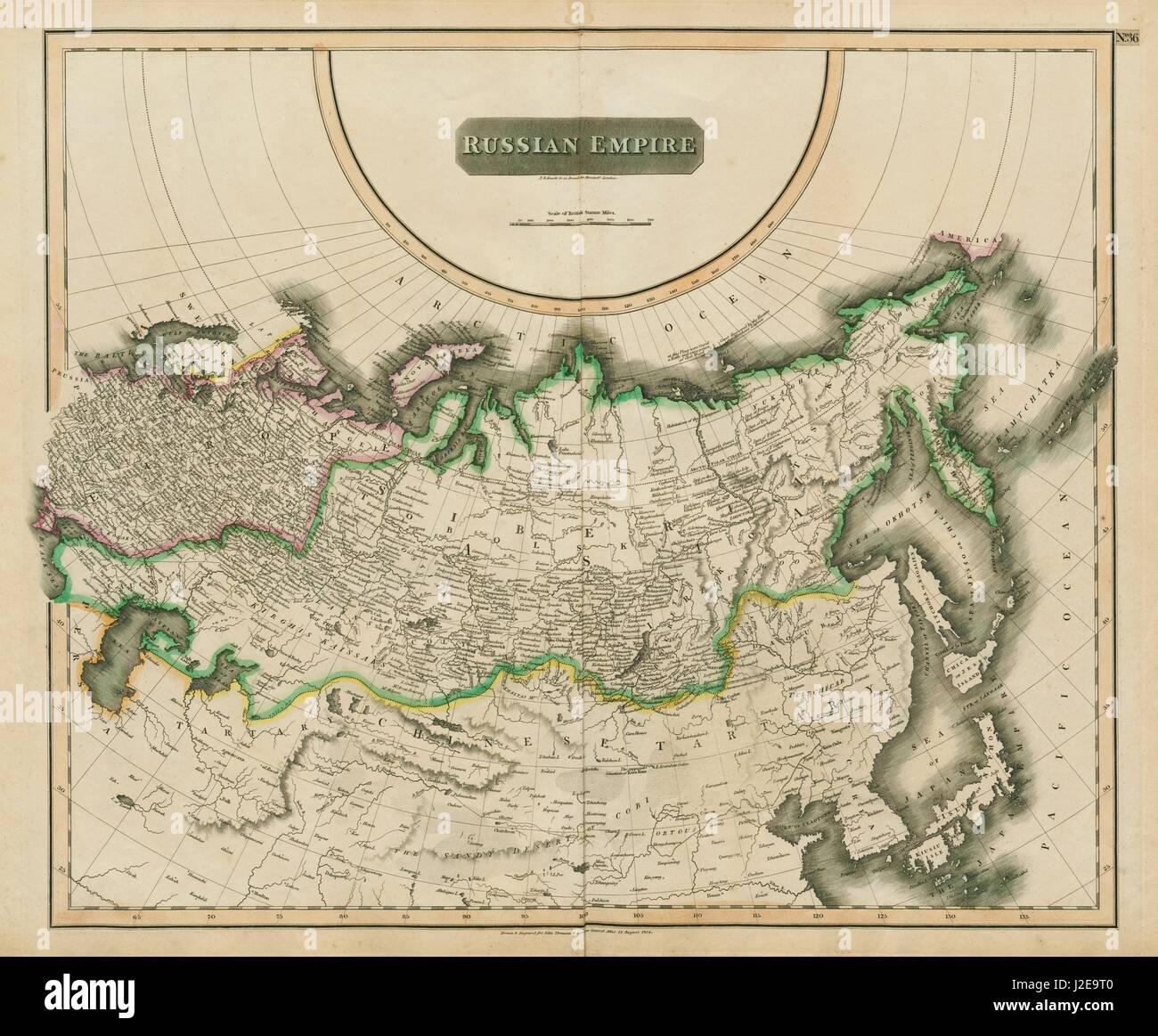 Karte Russland Asien.Russische Reich Russland In Asien Europa Sibirien Thomson 1817