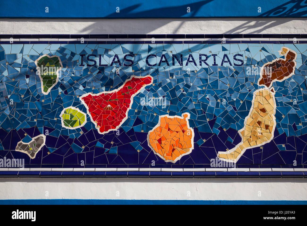 Spanische Inseln Karte.Spanien Kanarische Inseln Teneriffa Puerto De La Cruz Fototapete