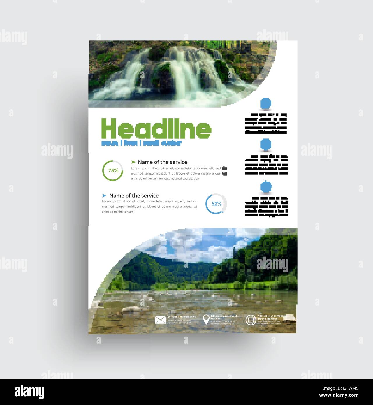 Brochure Template Travel Magazine Cover Stockfotos & Brochure ...