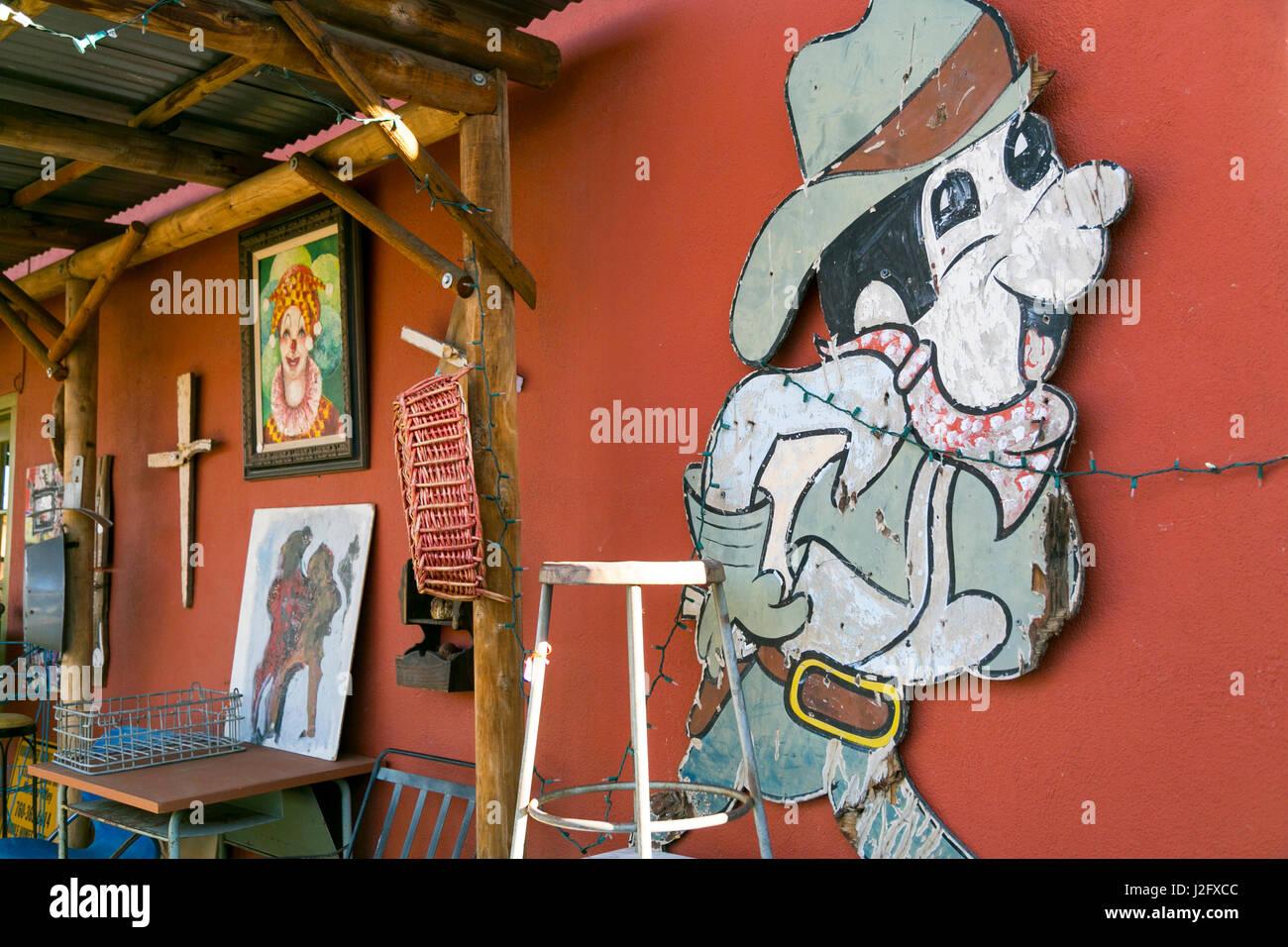 Zerlumpten Cartoon Charakter Zeichen, Joshua Tree, Kalifornien, USA. Stockbild
