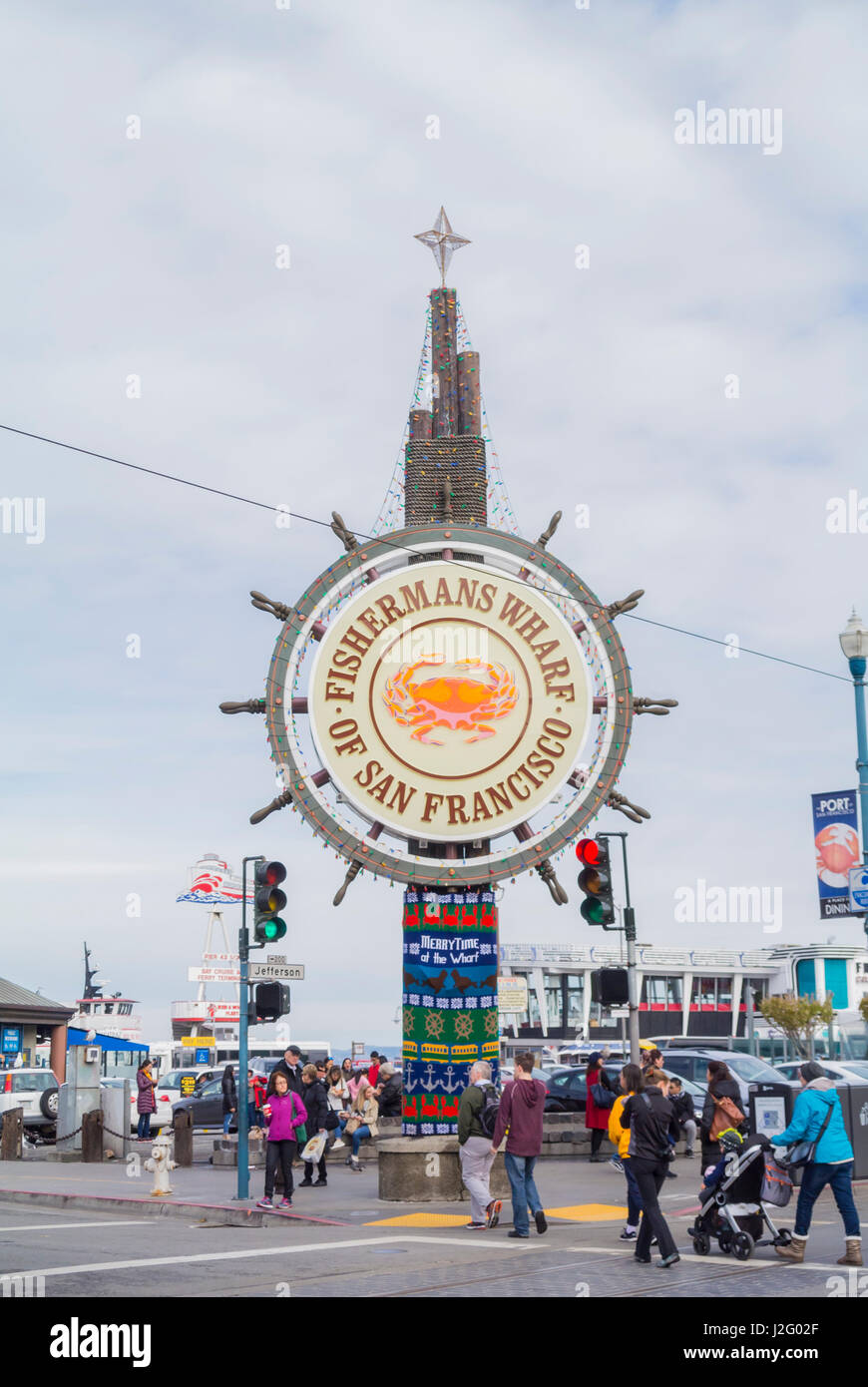 San Francisco, Kalifornien, Vereinigte Staaten von Amerika, Nordamerika, Fisherman's Wharf District Stockbild