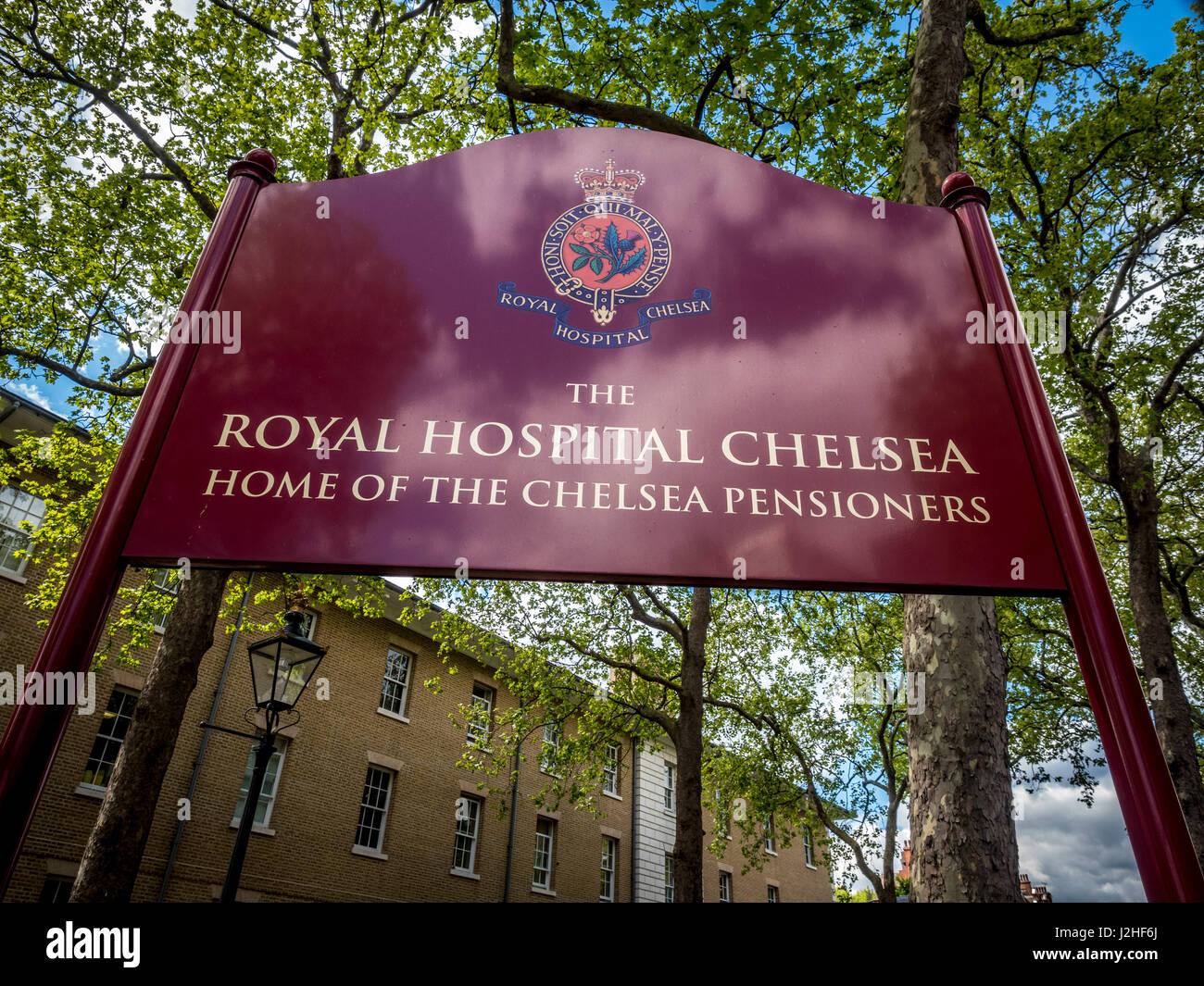 Royal Hospital Chelsea, Heimat der Chelsea-Rentner-London, UK. Stockbild