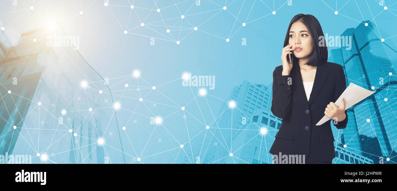 Smart City Design Social Media Stockfotos & Smart City Design Social ...