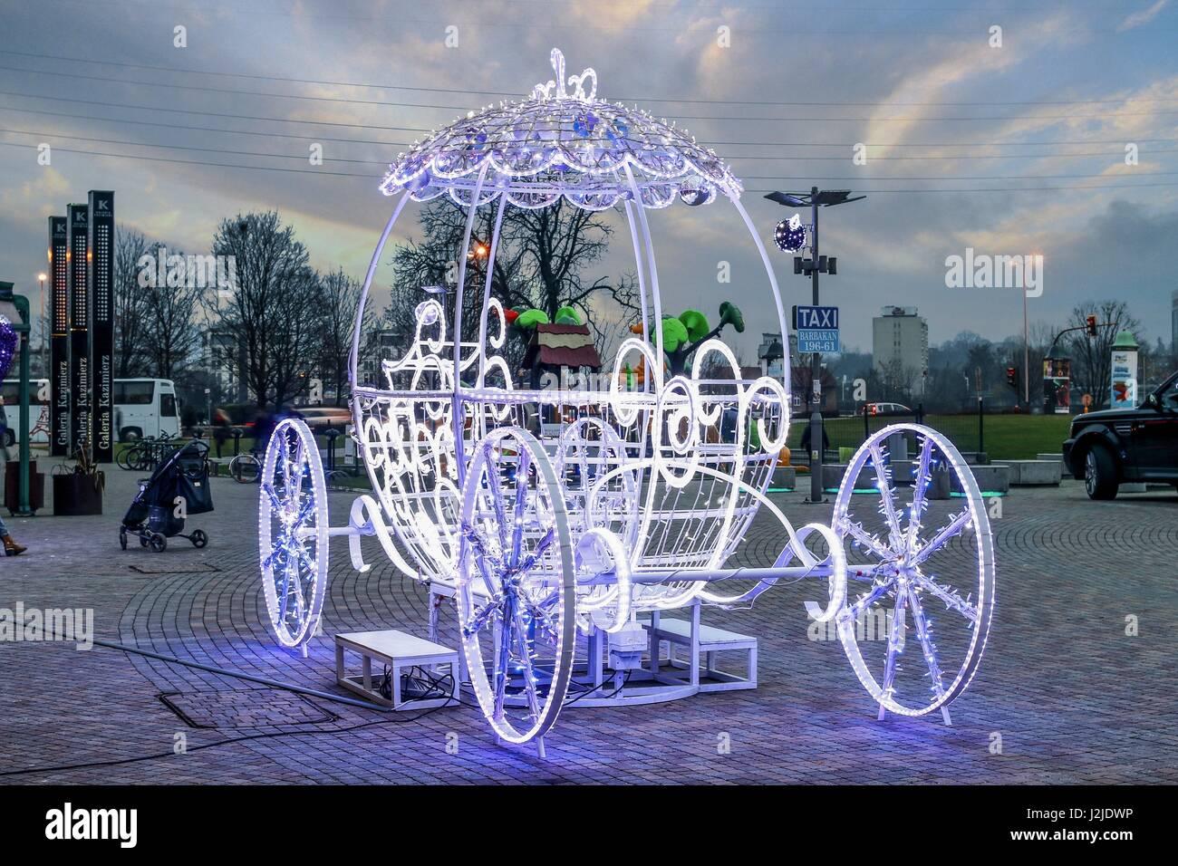 Cinderella Kutsche - outdoor Weihnachtsdekoration in
