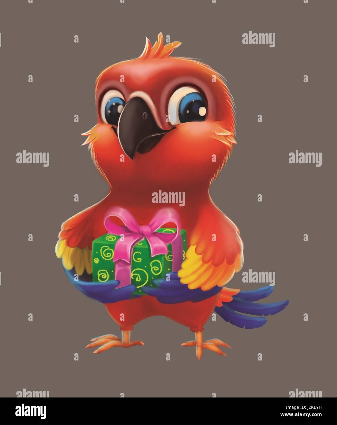 Lächelnd Glücklich Parakeet Parrot Party Geschenk Freund