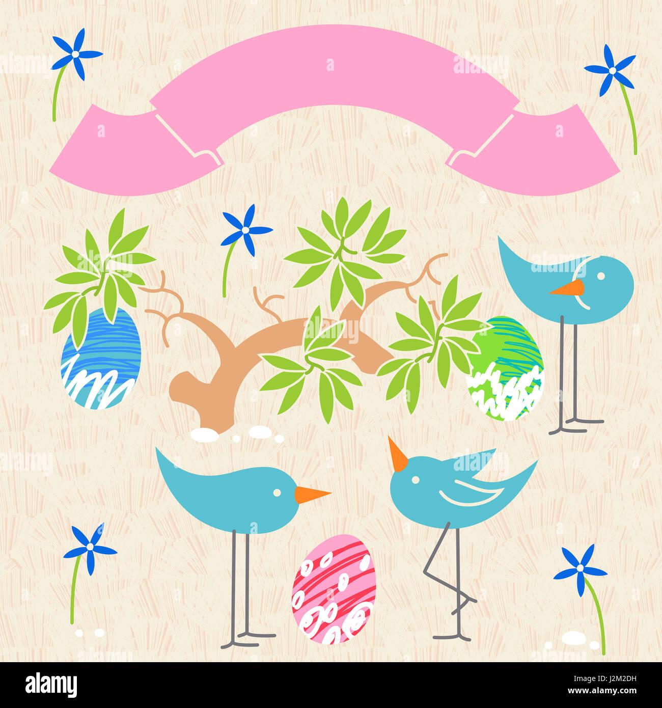 Niedlichen Vögel baby-Dusche Einladung Kartendesign. Layout-Vorlage ...