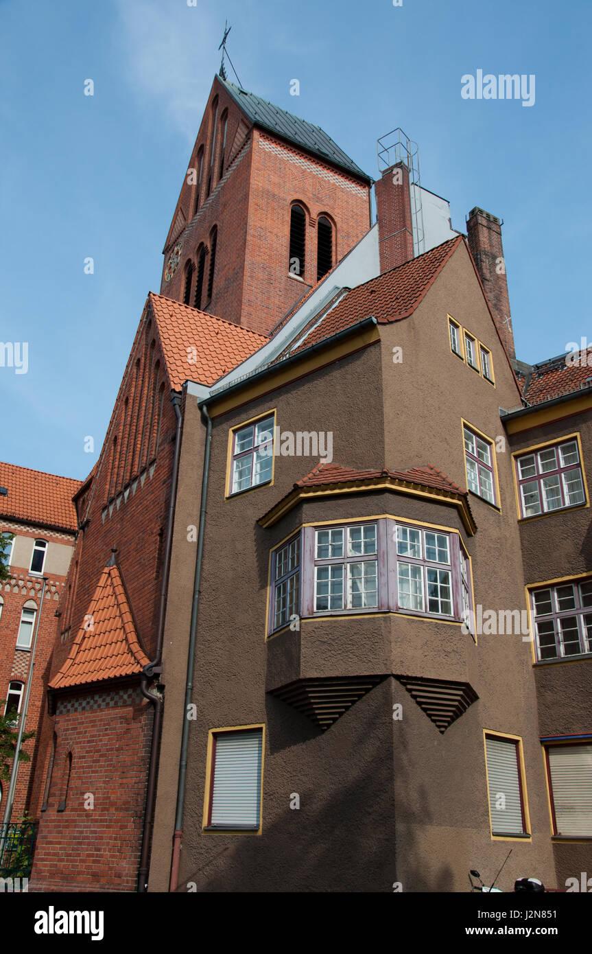 Exressionistische Wohnsiedlung/Modernistische Architektur, Paddenpuhl Reinickendorf, Berlin Stockbild