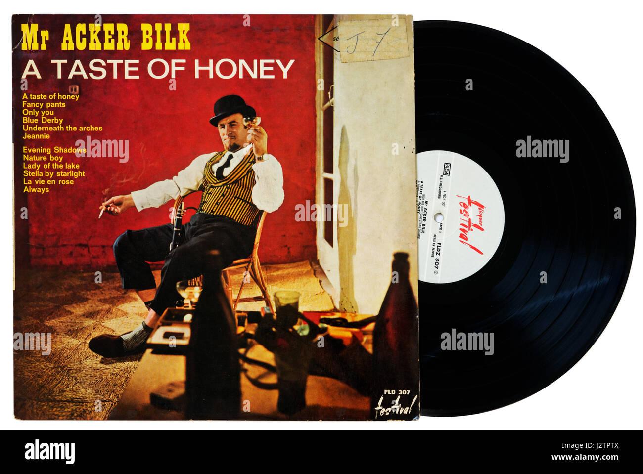 Acker Bilk Album A Taste of Honey auf vinyl Stockbild