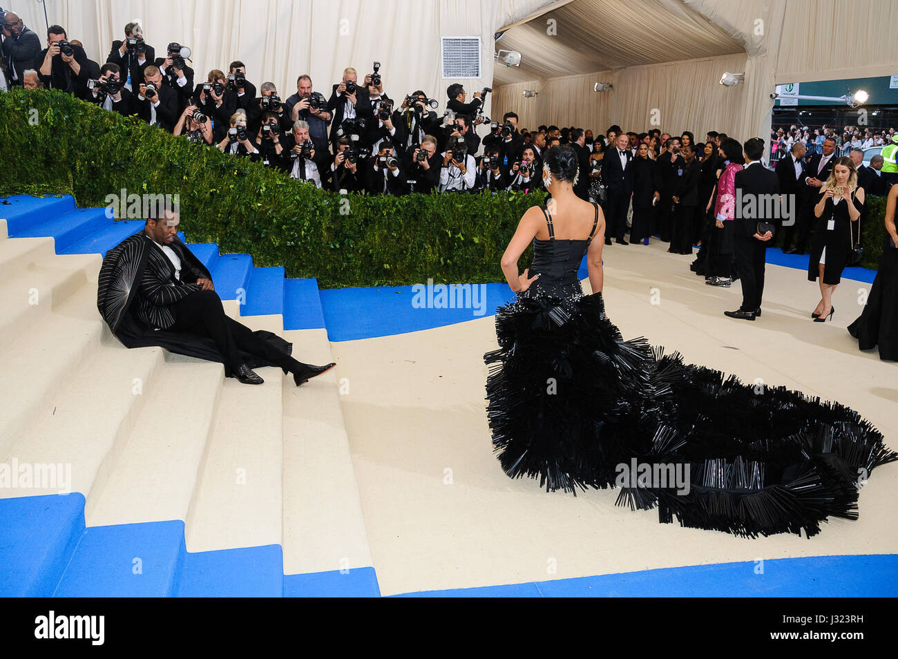 New York, NY, USA. 1. Mai 2017. Sean Combs, Cassie Ventura. 2017 Metropolitan Museum of Art Costume Institute-Benefiz Stockbild