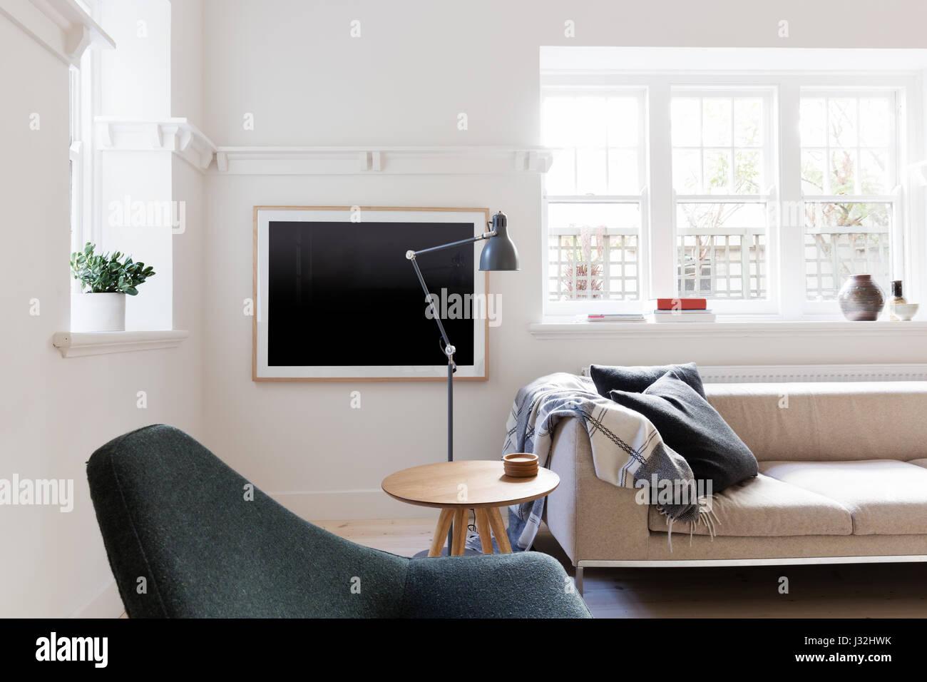 Zeitgenössische Scandi Stil Wohnzimmer im Art-déco-australische ...