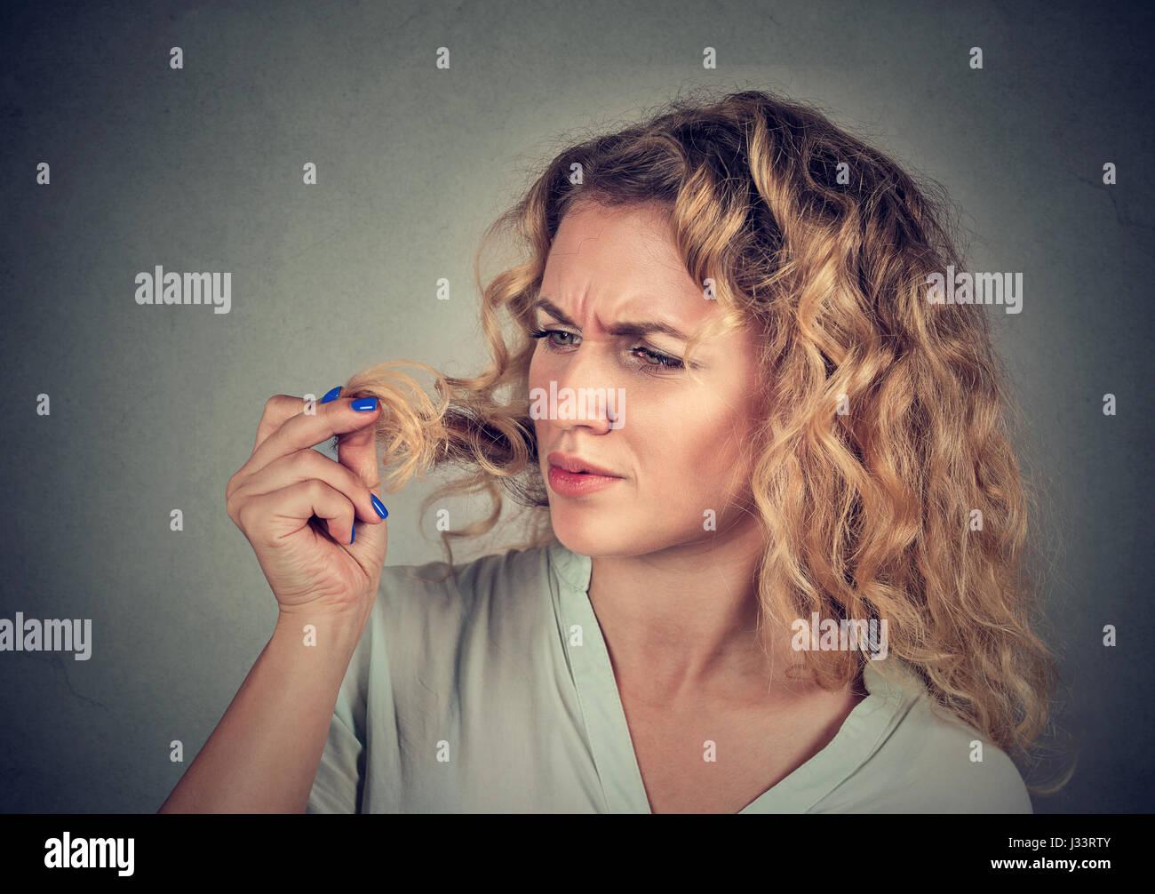 Unglücklich Frustriert Junge Frau überrascht Ist Sie Verlieren