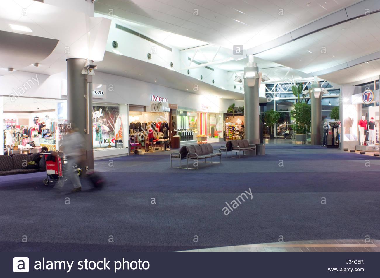 Auckland International Airport Limited, Northland, North Island, Neuseeland, August 2007. Flughafen Auckland ist Stockfoto