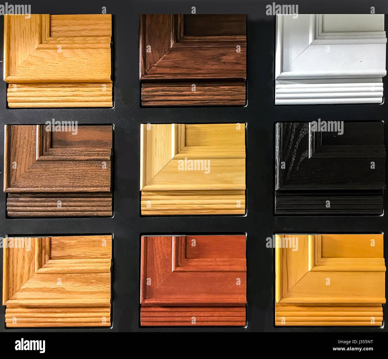 Holz- oder Küche Schranktür Farbe und Profil Proben