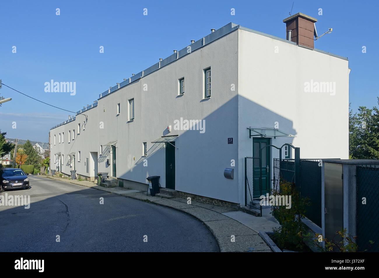Wien, Wohnbau der Zwischenkriegszeit, Siedlung Heuberg Nach Einem Konzept von Adolf Loos, 1924 Stockbild