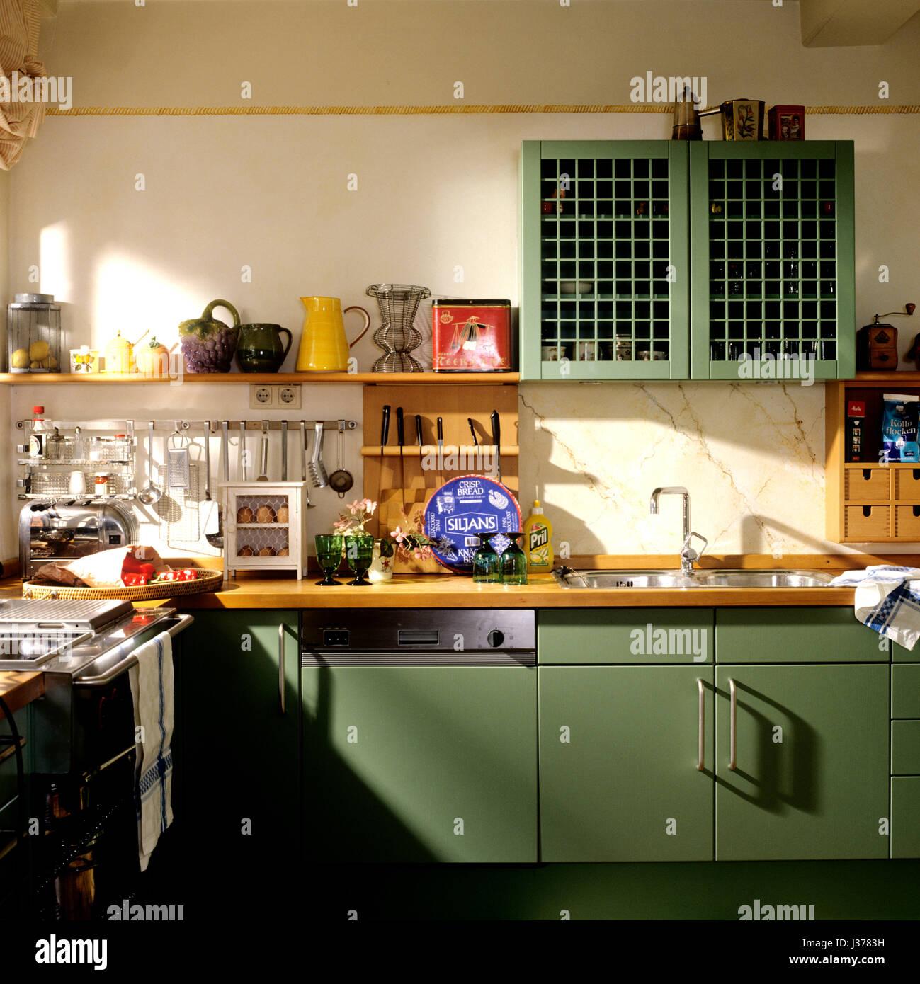 Küche im Retro-Stil Stockfoto, Bild: 139686949 - Alamy