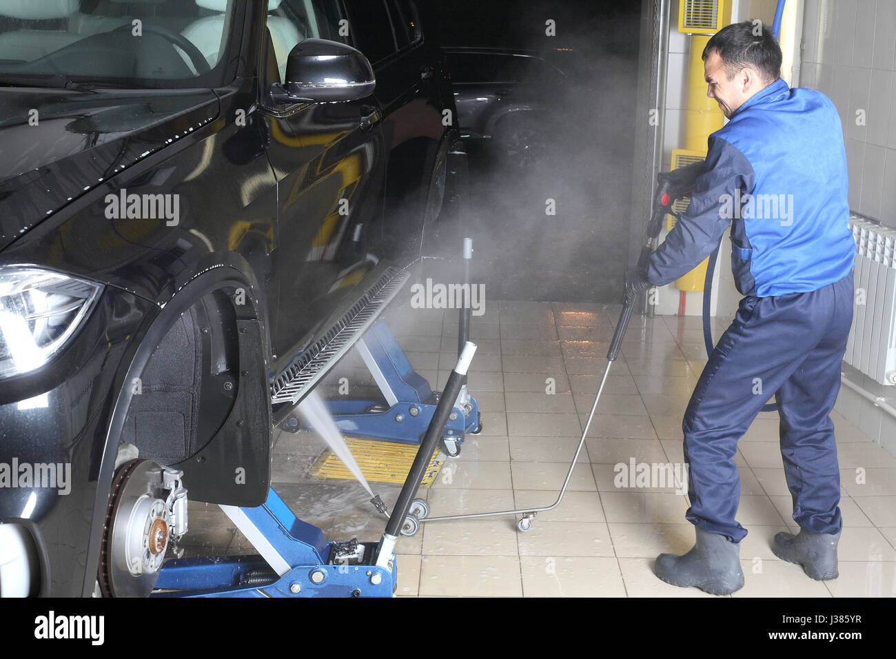 Car Cleaning Cleaning Service Business Stockfotos & Car Cleaning ...