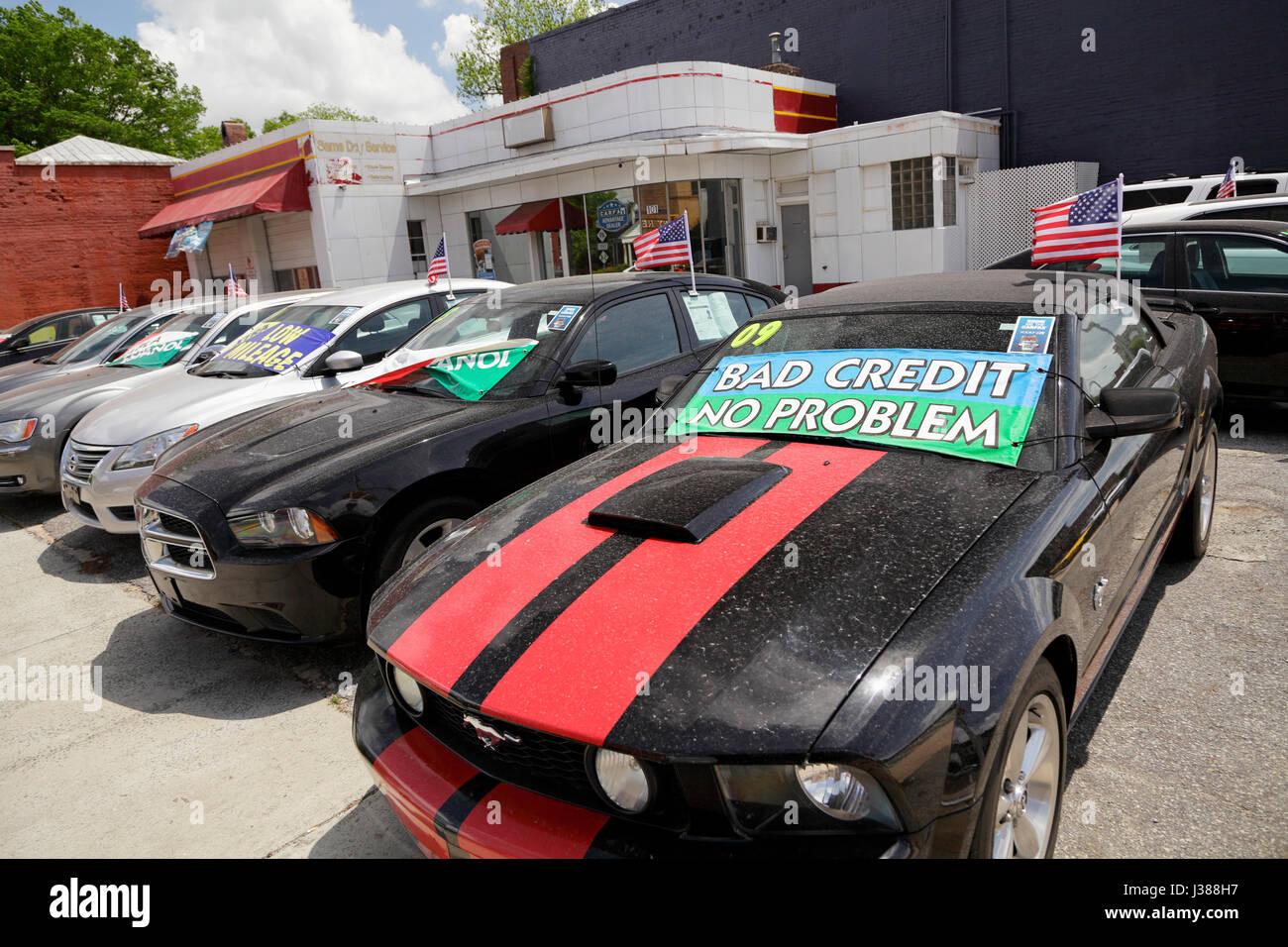 Gebrauchte Autos Für Verkauf North Carolina Usa Stockfoto Bild