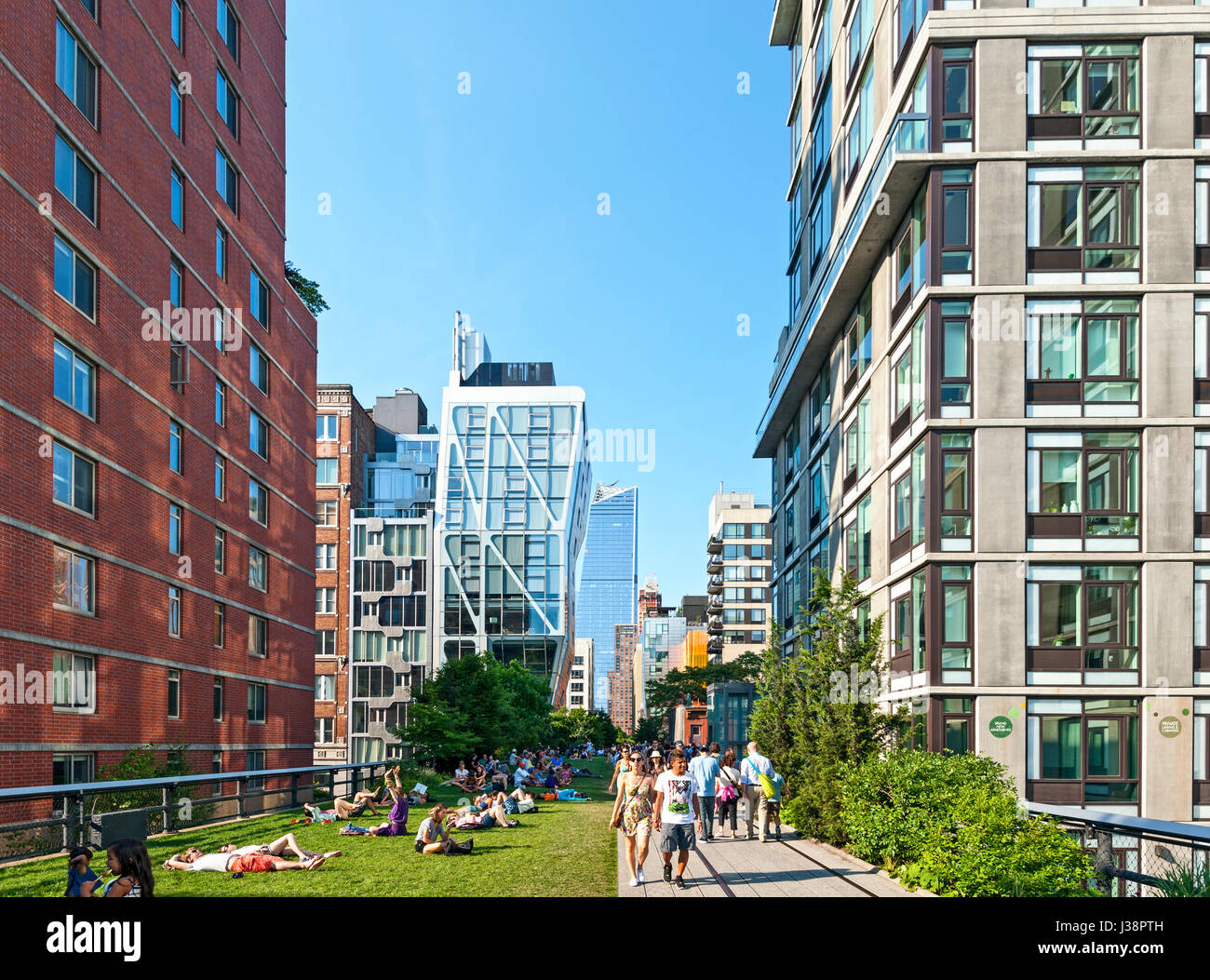 High Line-New York City-Chelsea-Manhattan Stockbild