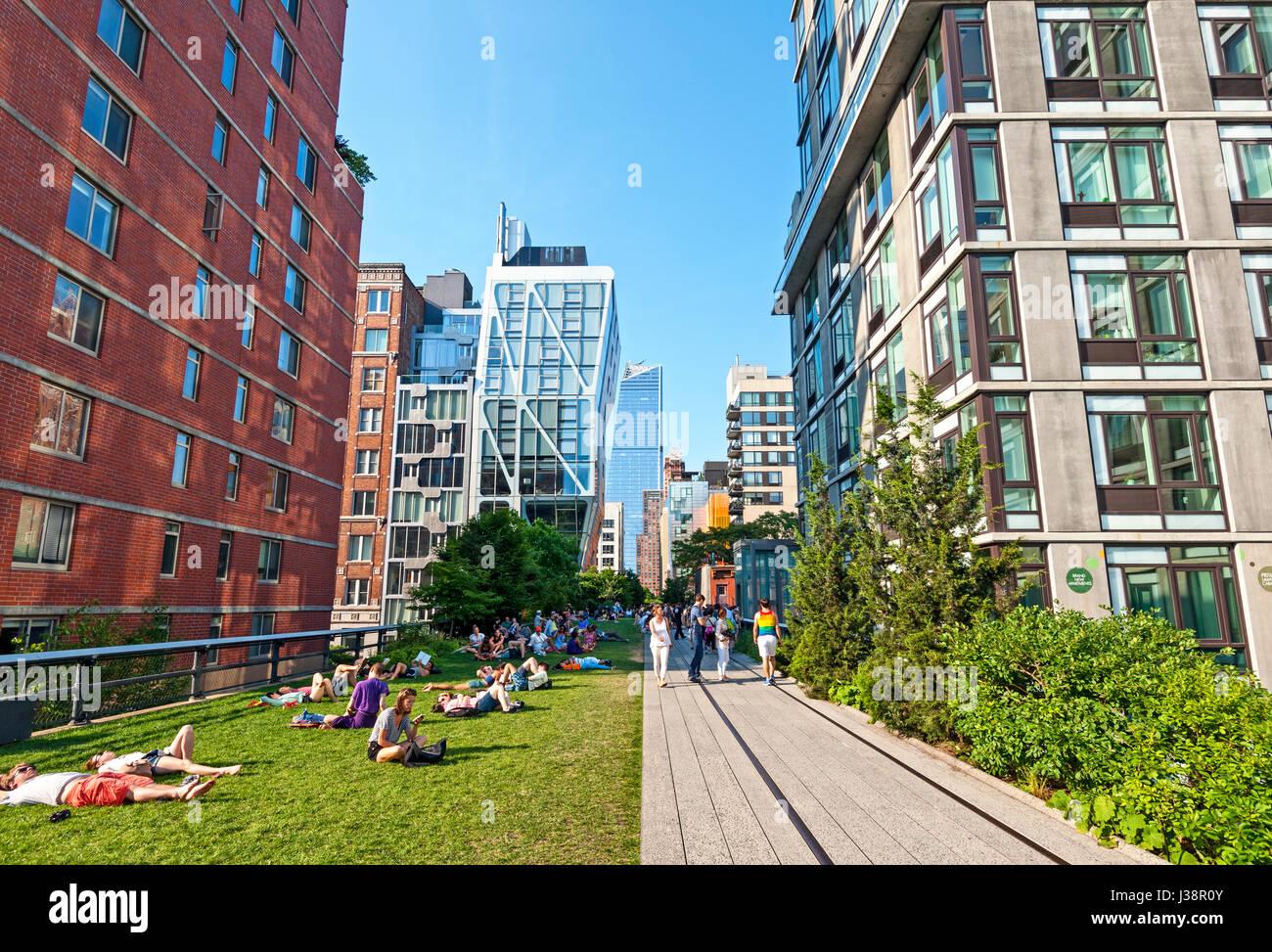 High Line-New York City-Chelsea-Manhattan Stockbild