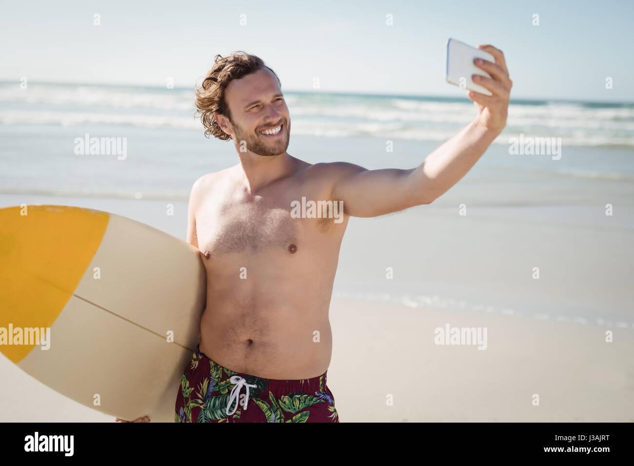 Nackt strand selfie
