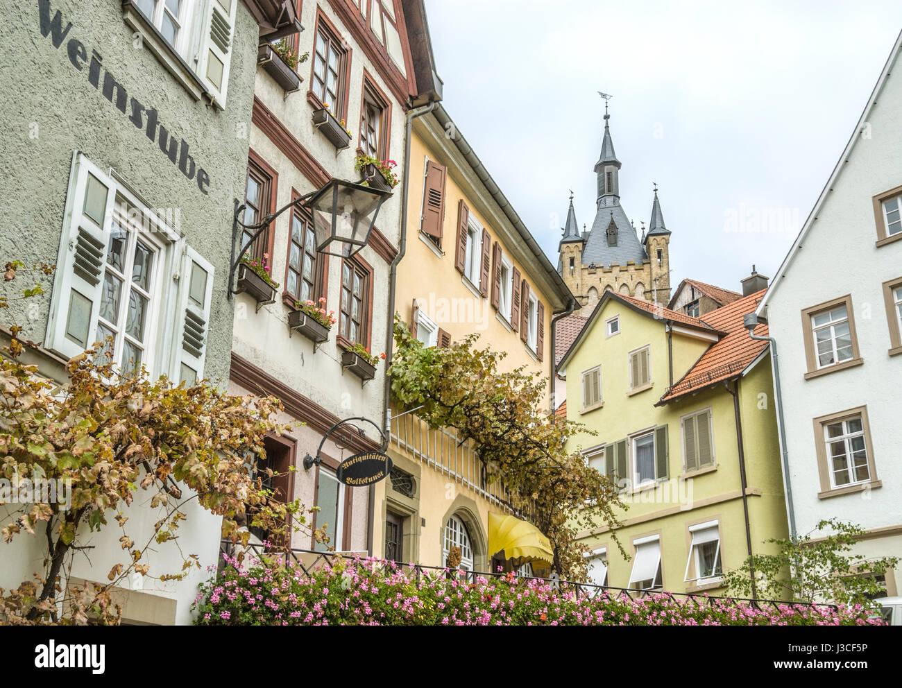 Mittelalterliche Altstadt von Bad Wimpfen, Baden-Württemberg, Süddeutschland | Fachwerkhaueser in der Stockbild