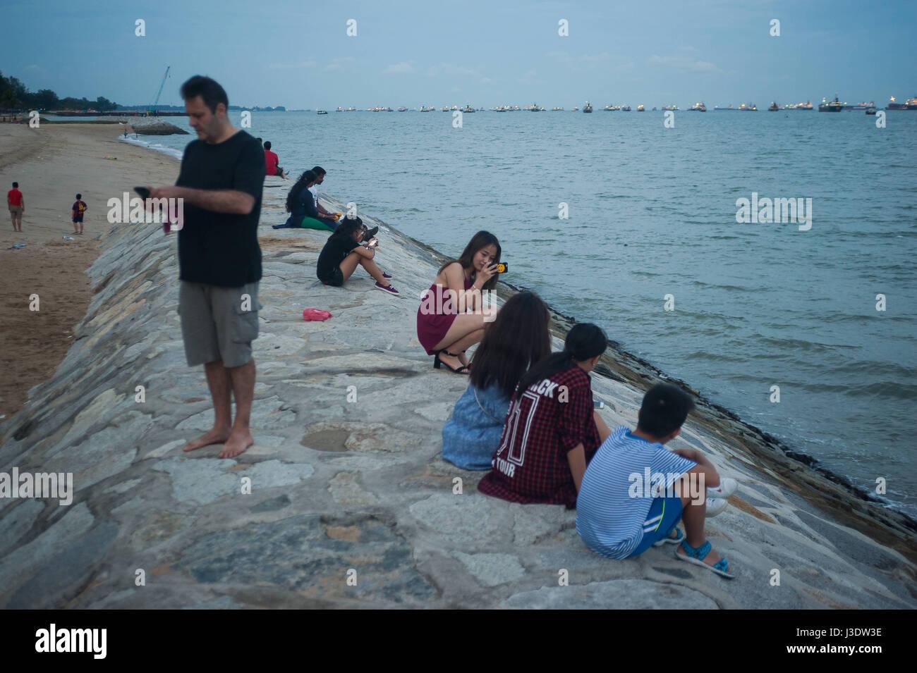 Singapur, Republik Singapur, 2016, East Coast Park Stockbild