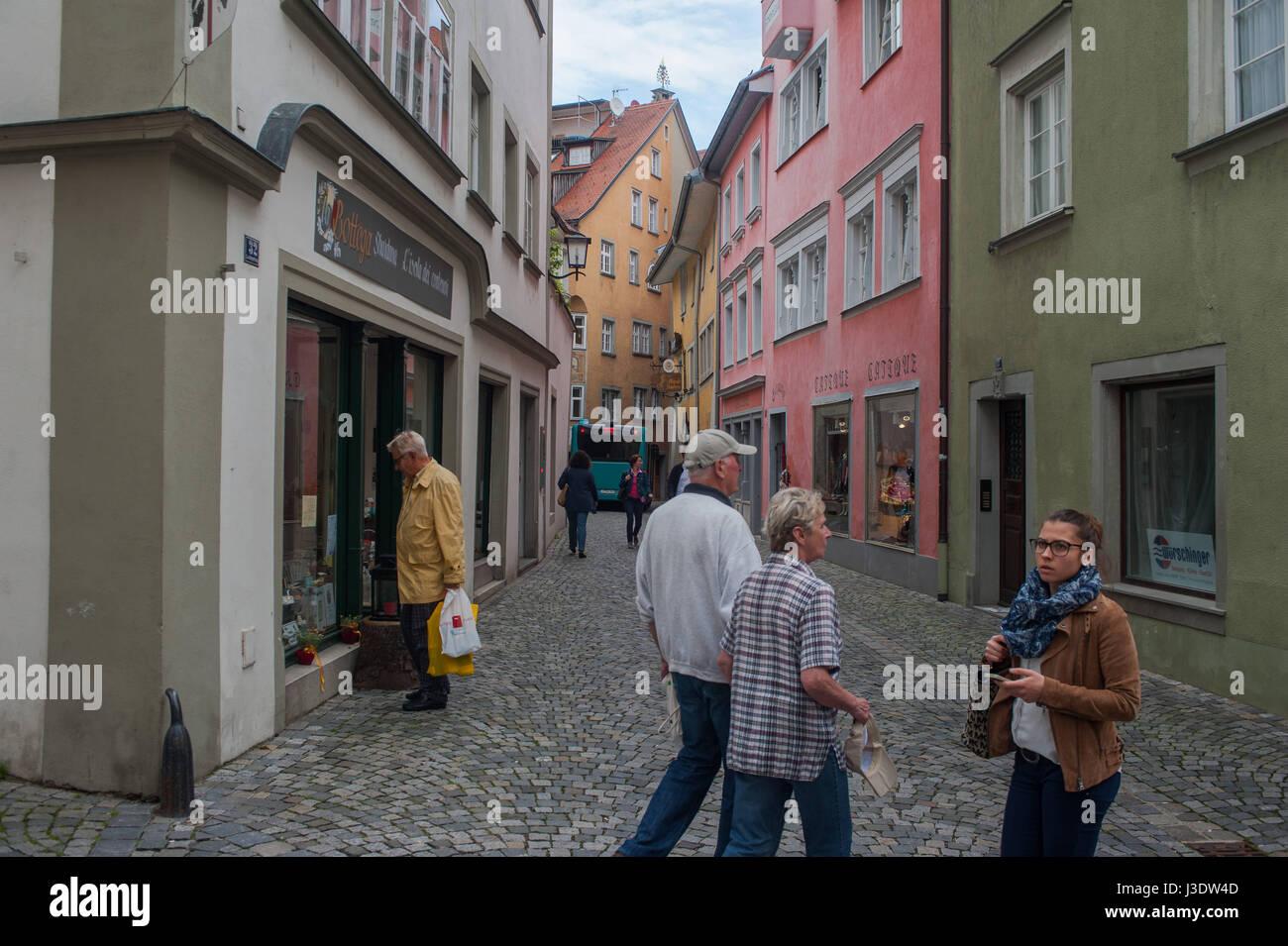 Lindau, Deutschland, 2016, Lindaus Altstadt Stockbild