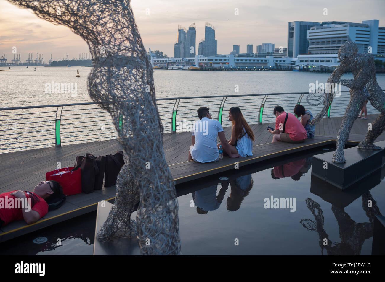 Singapur, Republik Singapur, 2016, Sentosa Boardwalk Stockbild