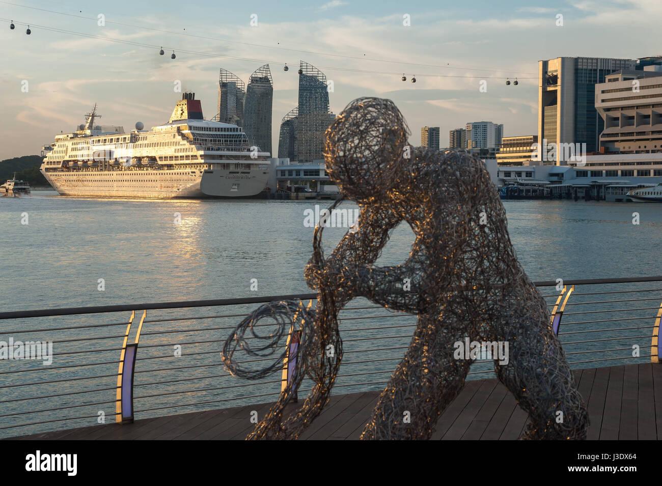 Singapur, Republik Singapur, Asien, Sentosa Boardwalk Stockbild