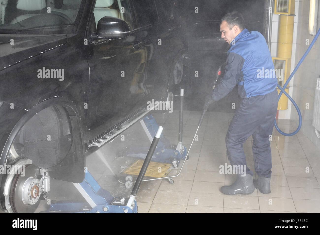 Car Wash Business Spray Stockfotos & Car Wash Business Spray Bilder ...