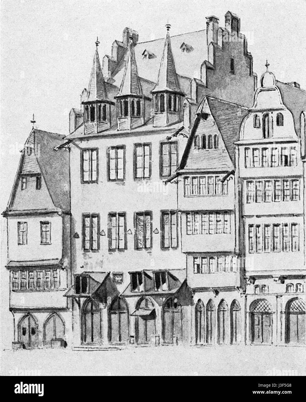 Frankfurt Am Main Lichtenstein Reiffenstein Vor Barock Stockfoto