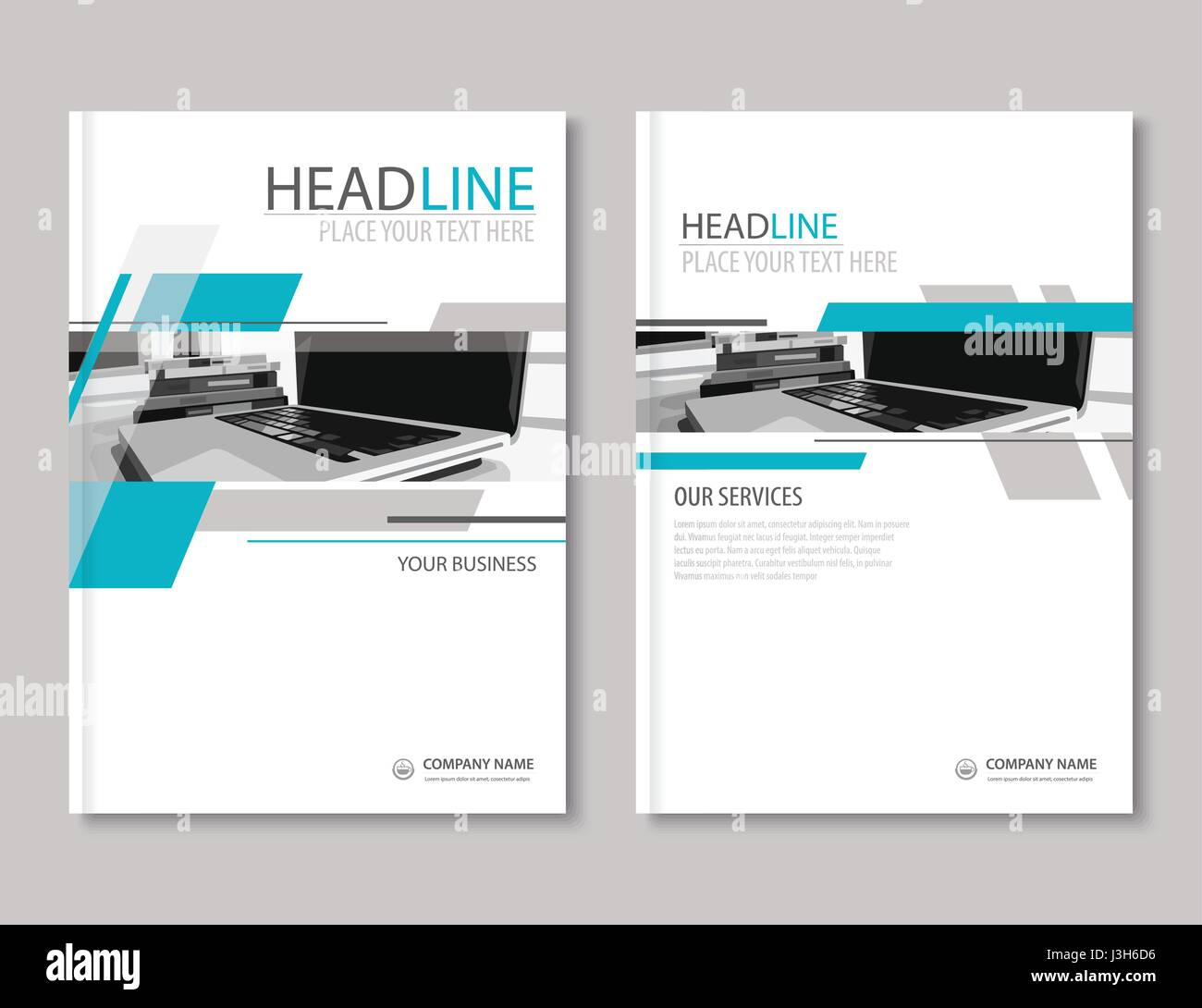 Jährlichen Berichts Broschüre Flyer Design-Vorlage. Firma Profil ...