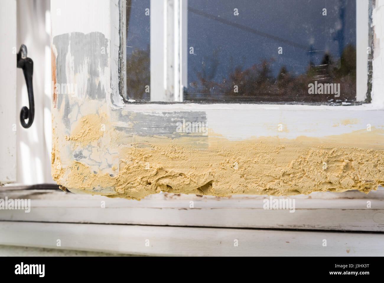 Beliebt morsche Holz Holzfenster - diy Reparatur mit Spachtelmasse vor dem SR62
