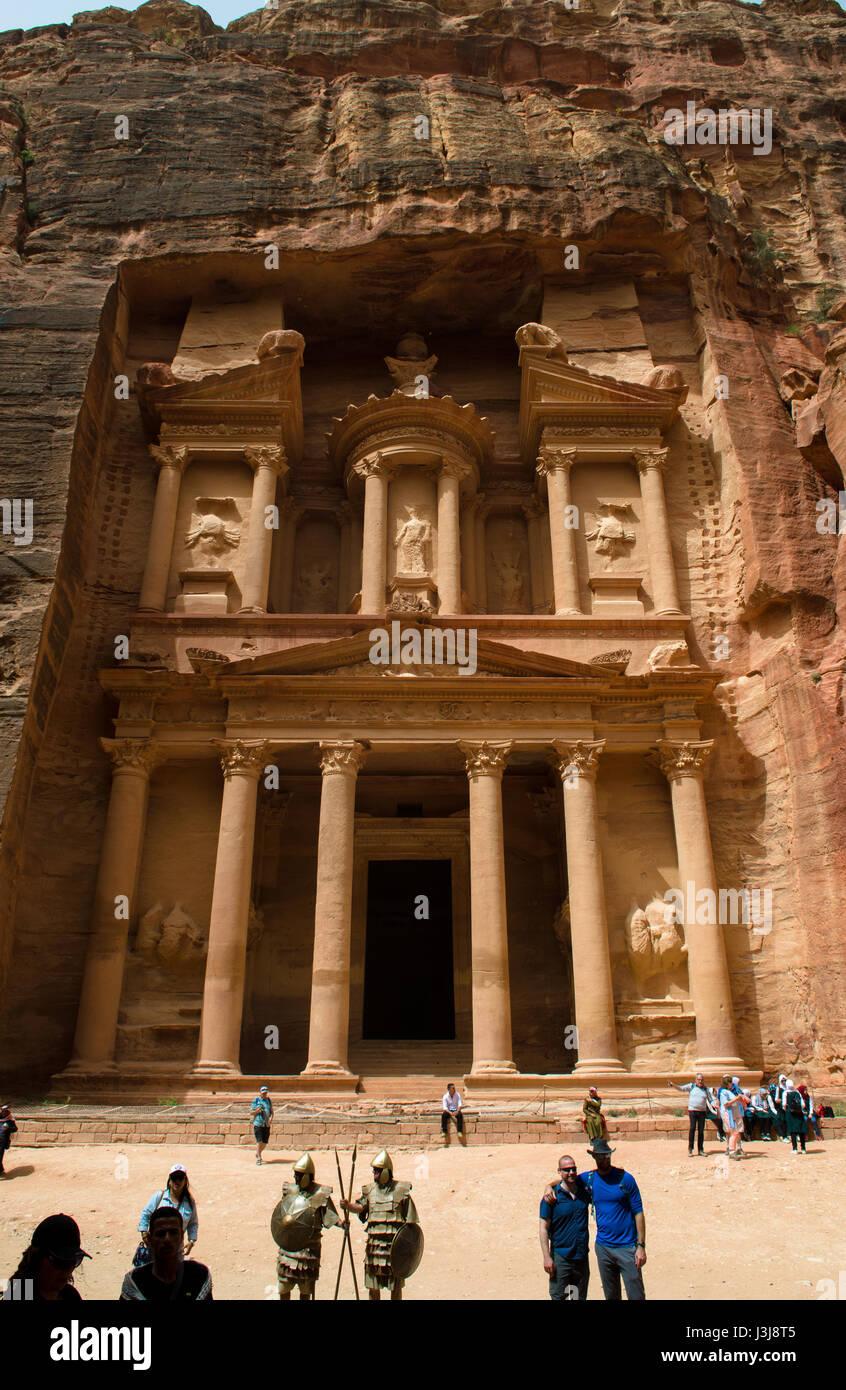 Verlorene Stadt Petra Jordanien Naher Osten Stockbild