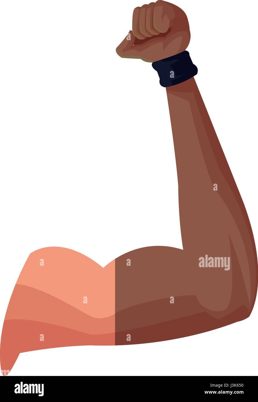 starker Arm Gym Muskel Design Grafik Vektor Abbildung - Bild ...