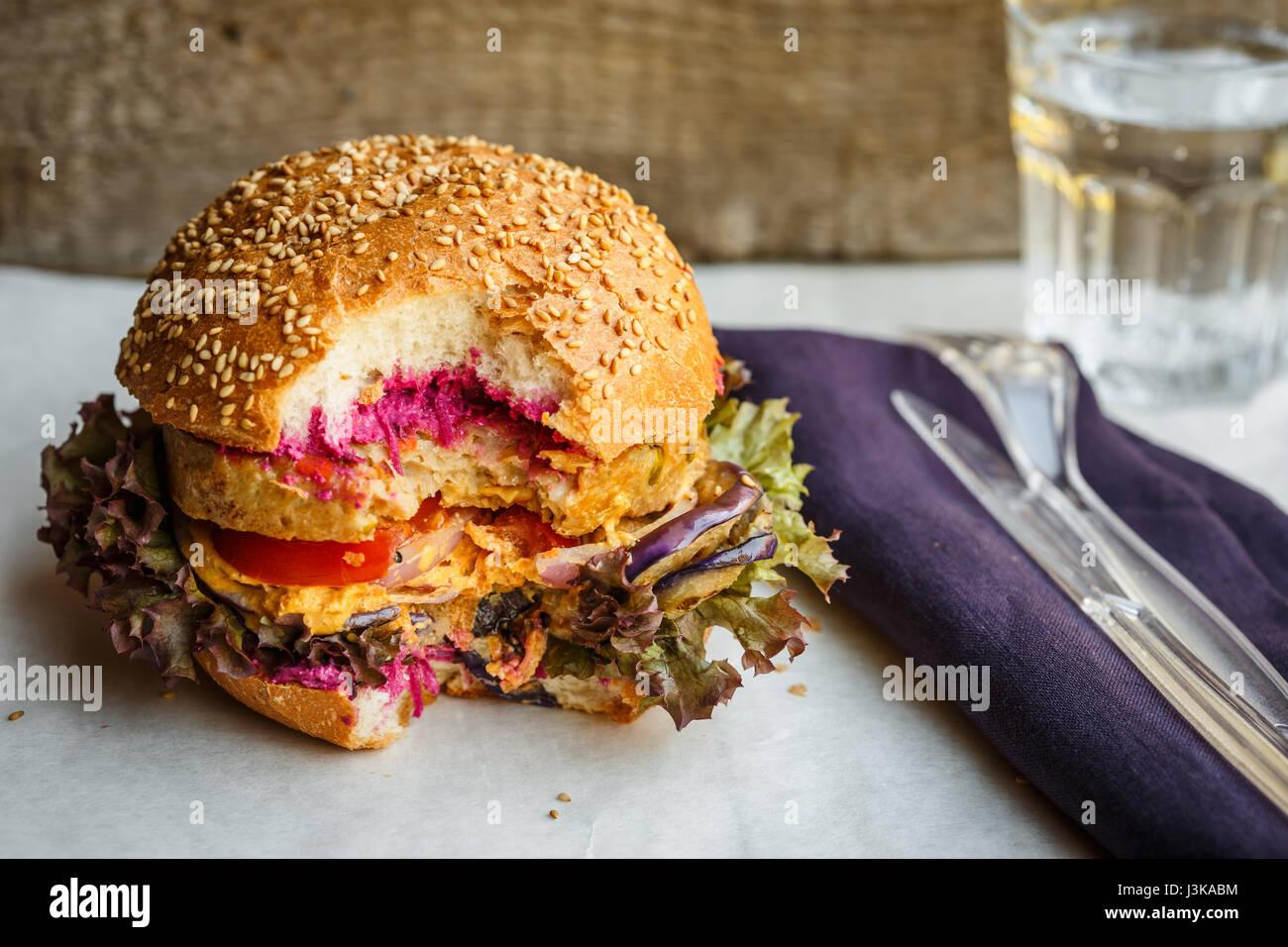 Veggie-burger Stockbild