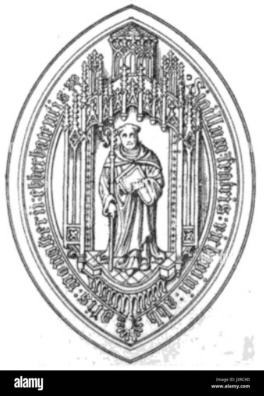 Kloster Eberbach Abteisiegel 15. Jahrhundert Stockbild