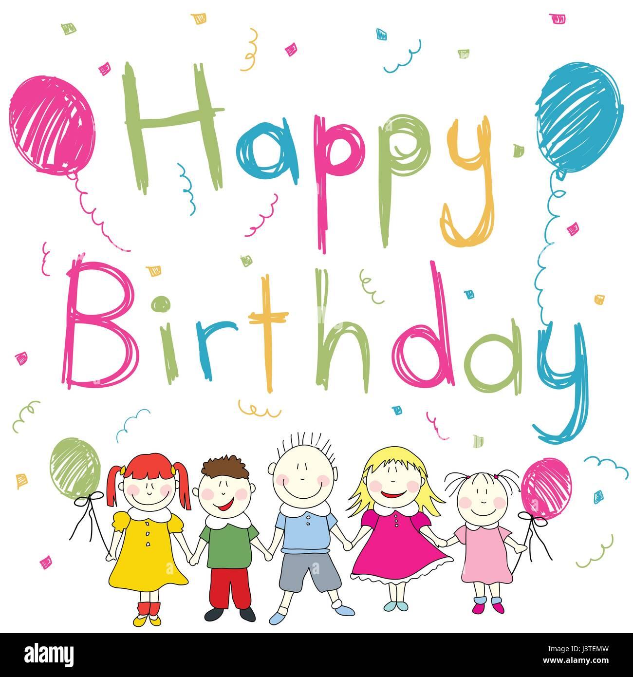 Happy Birthday Card Vektor Abbildung