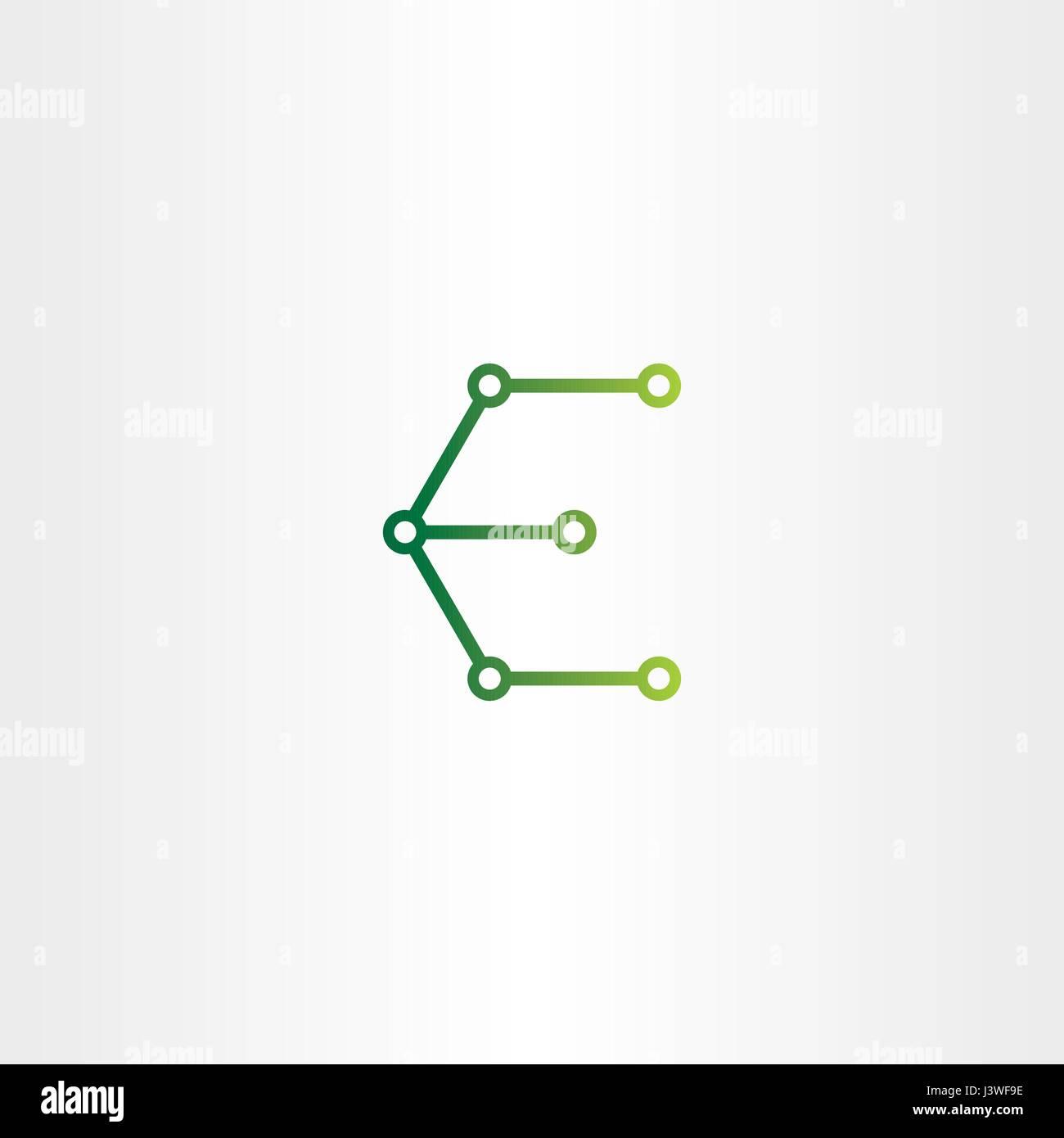 Buchstabe e Logo Elektronik Schaltung Symbol Vektor symbol Vektor ...