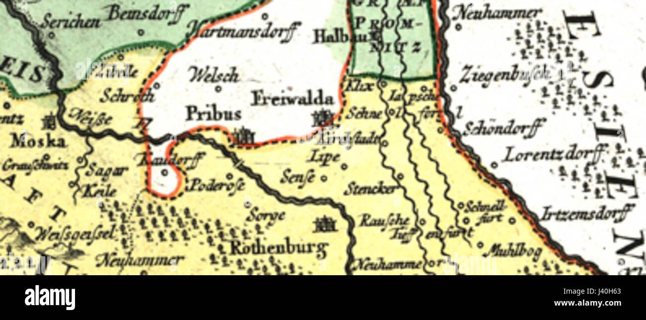 Lausitz Karte.Lausitz Karte 18thc Leippa Stockfoto Bild 140155067 Alamy