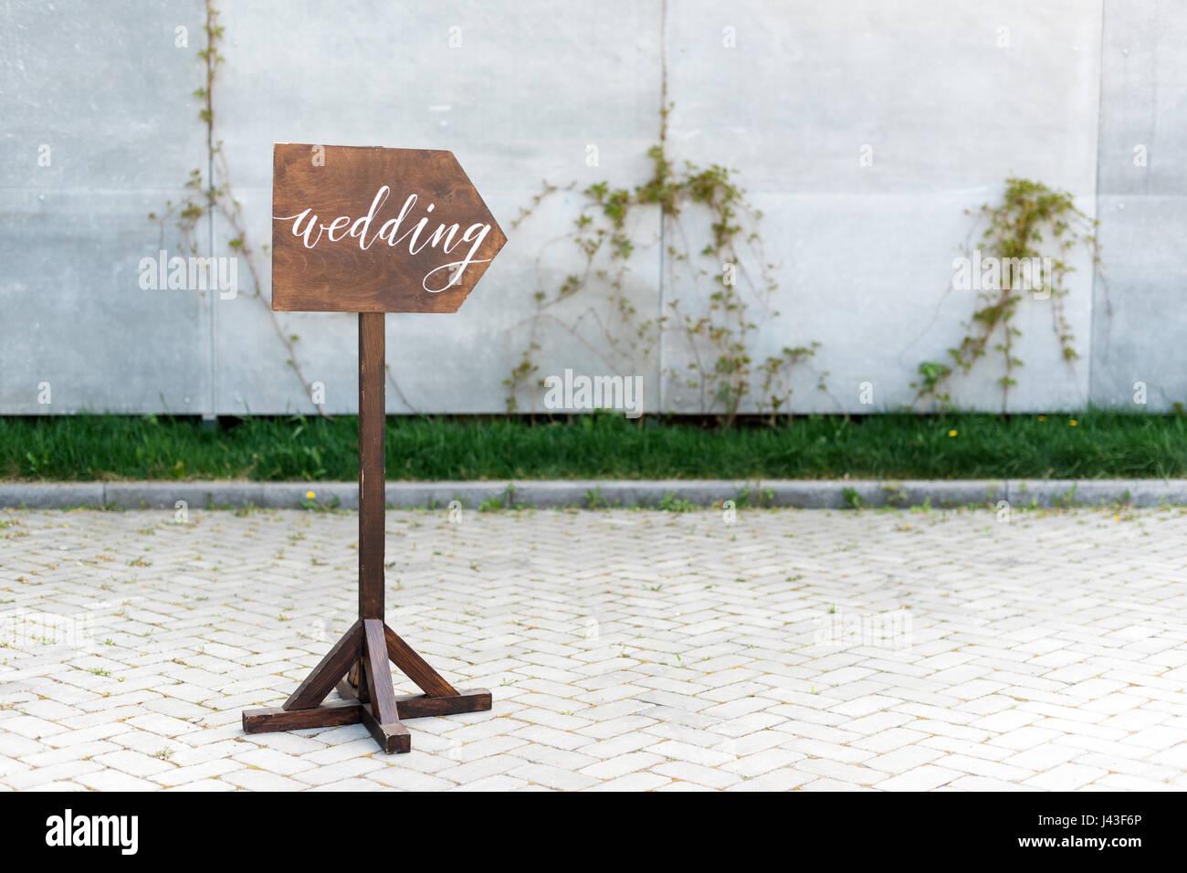 Hochzeit Dekor Holzerne Gedenktafel Mit Der Inschrift In Malen