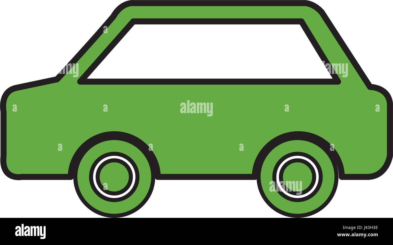 grünes Auto-Ökologie-symbol Stockbild