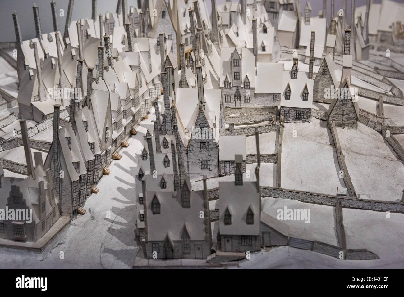 Hogsmeade Modell, Making of Harry Potter, Warner Bros.-Studio-Tour, Leavesden, London Stockbild