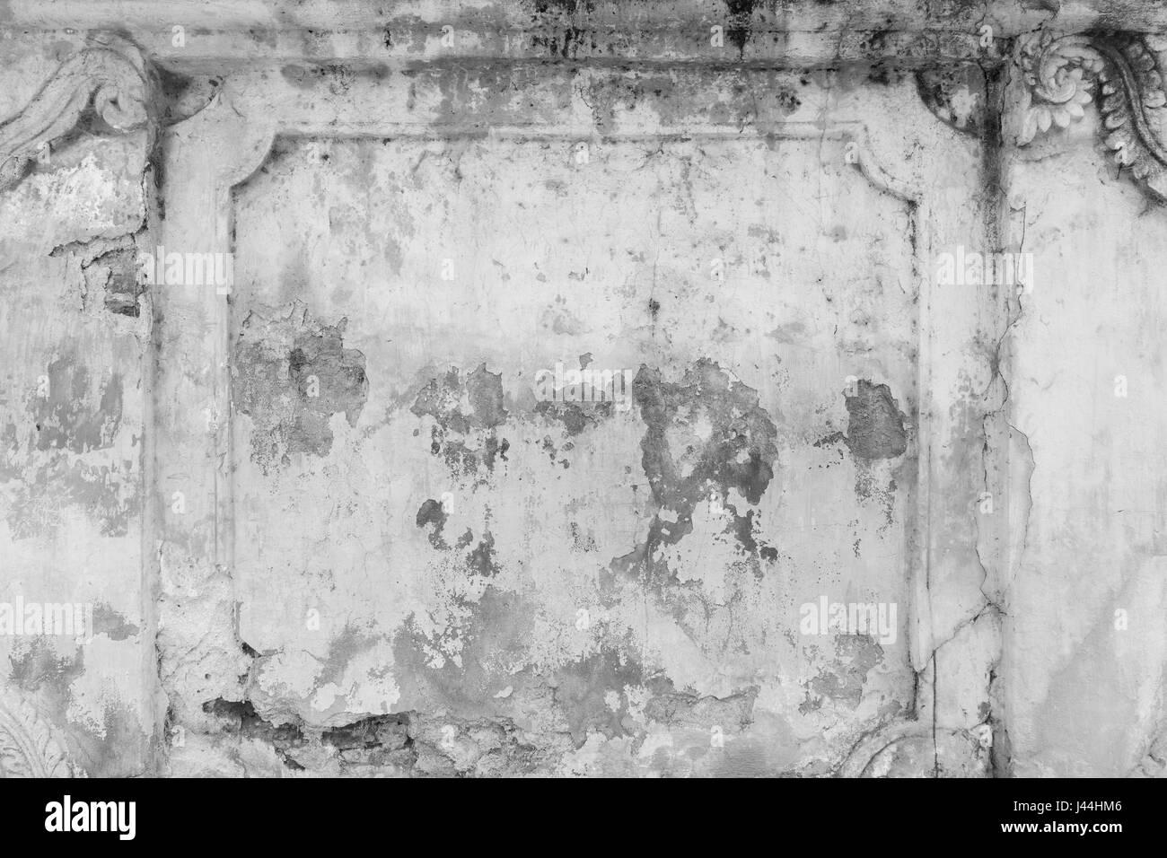 Gebrochen, alt und Verputzen Wand in schwarz & weiß ...