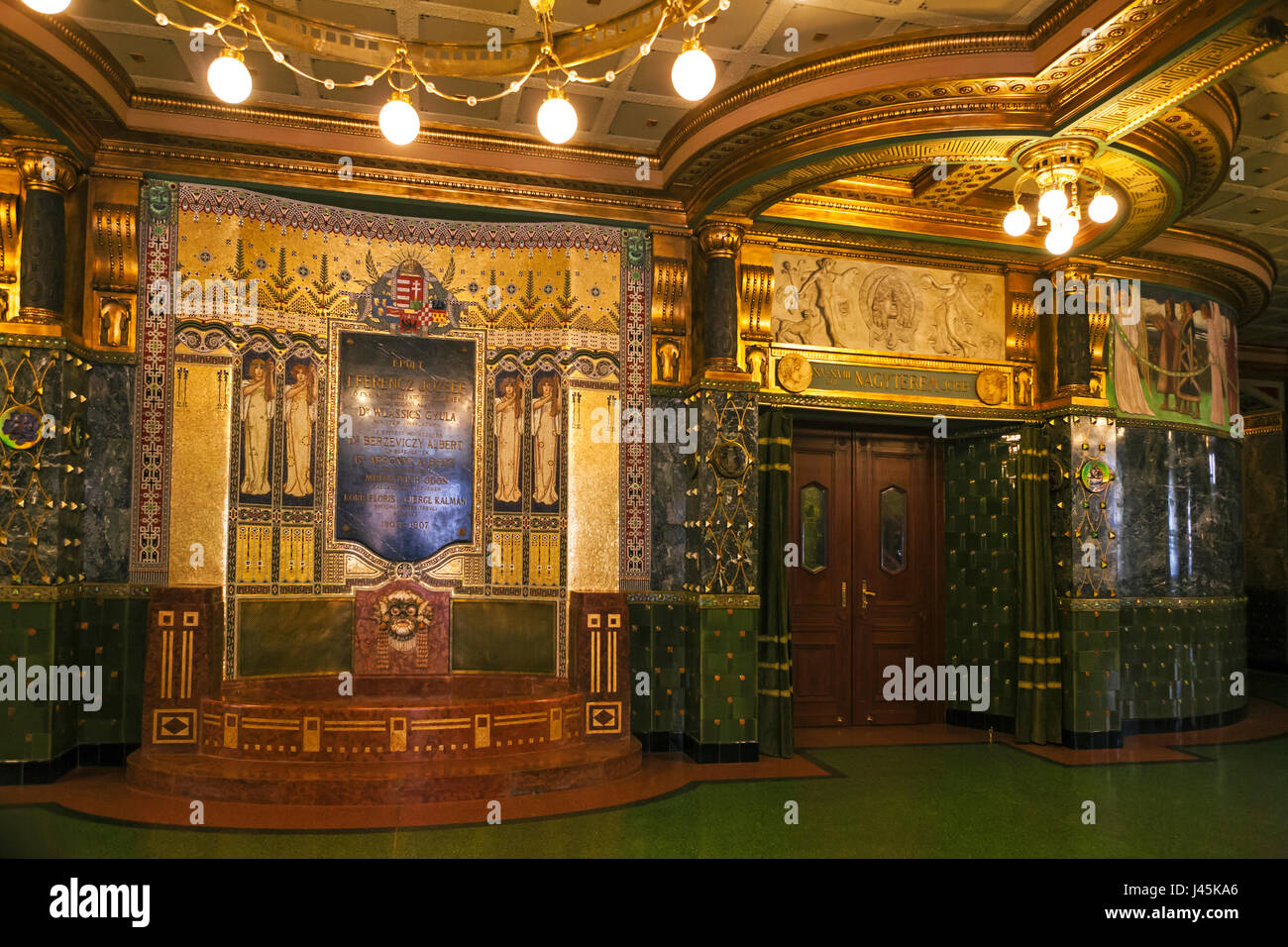 jugendstil interieur von liszt musikakademie liszt ferenc tr teresienstadt budapest ungarn