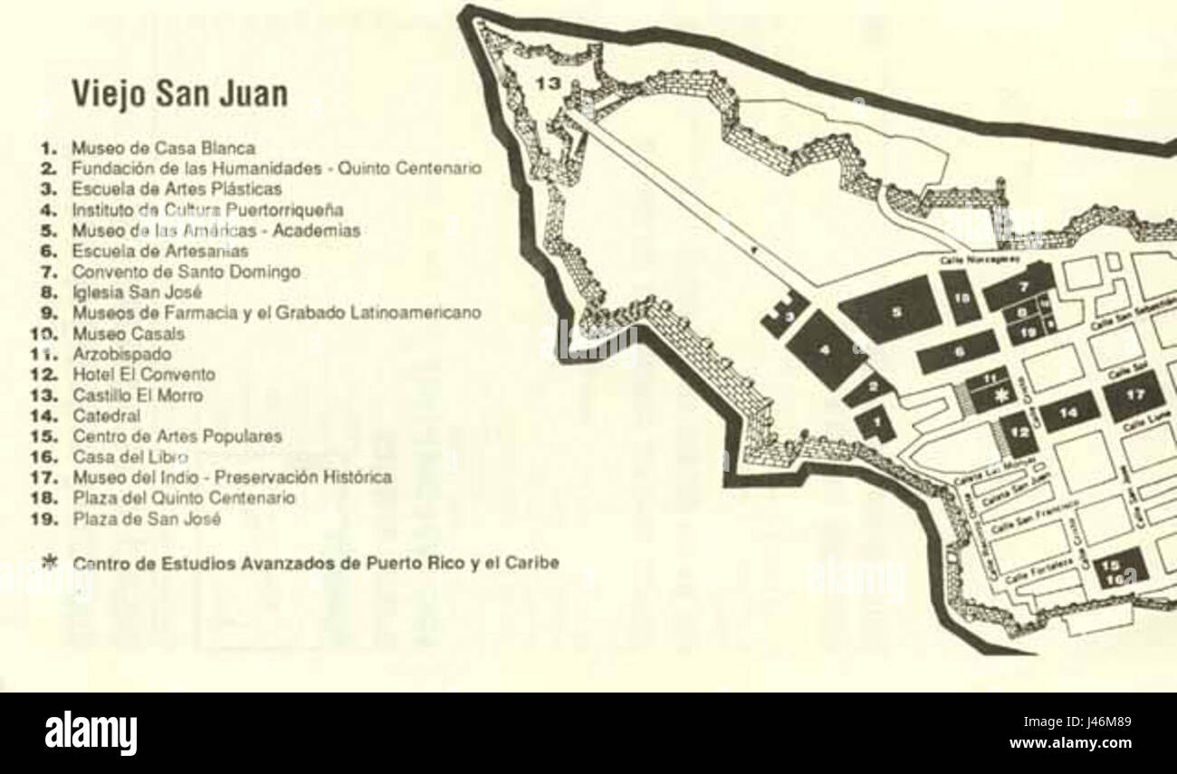 San Juan Map Stockfotos & San Juan Map Bilder - Alamy