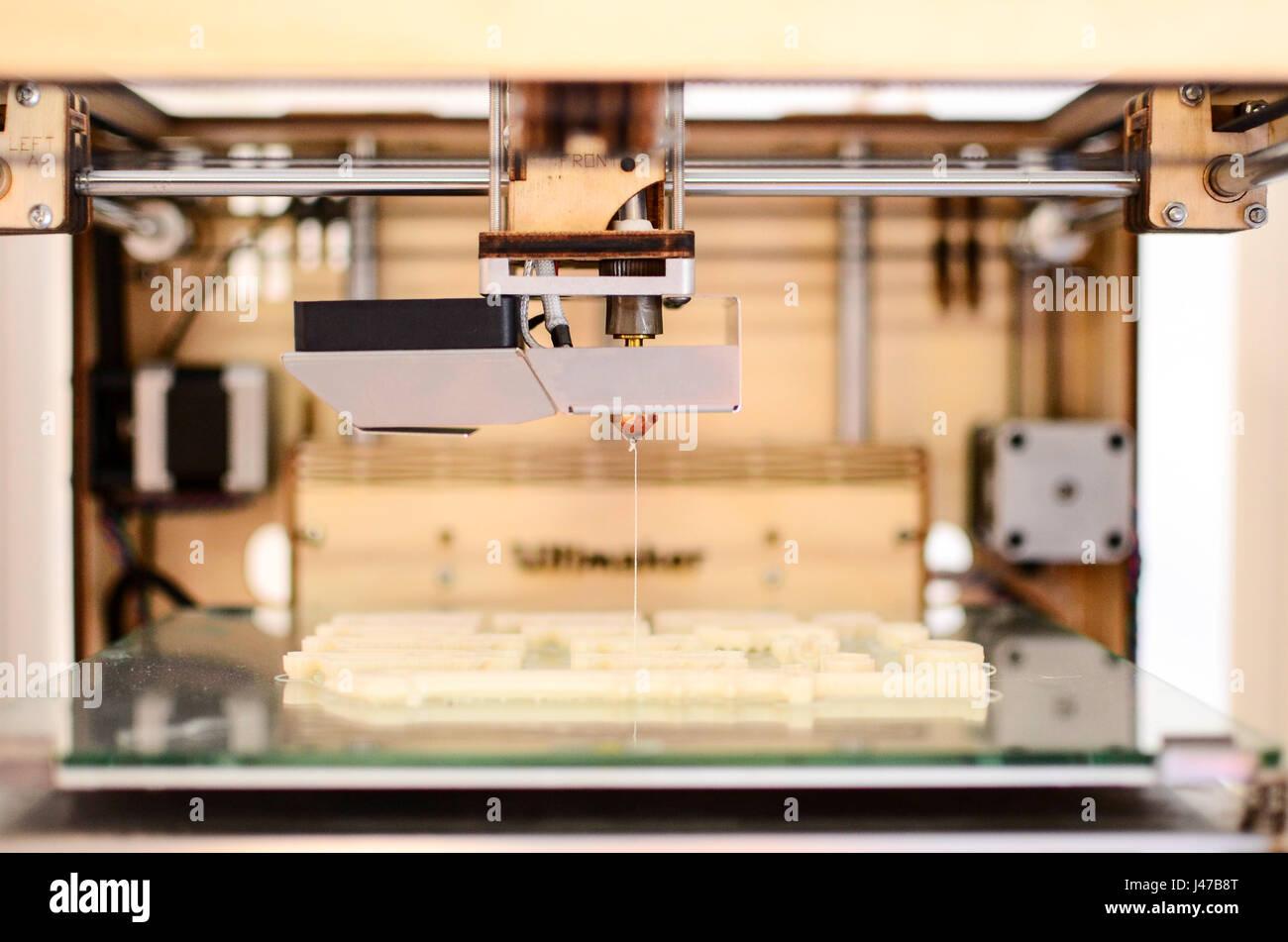 Moderne 3D Drucker Stockbild