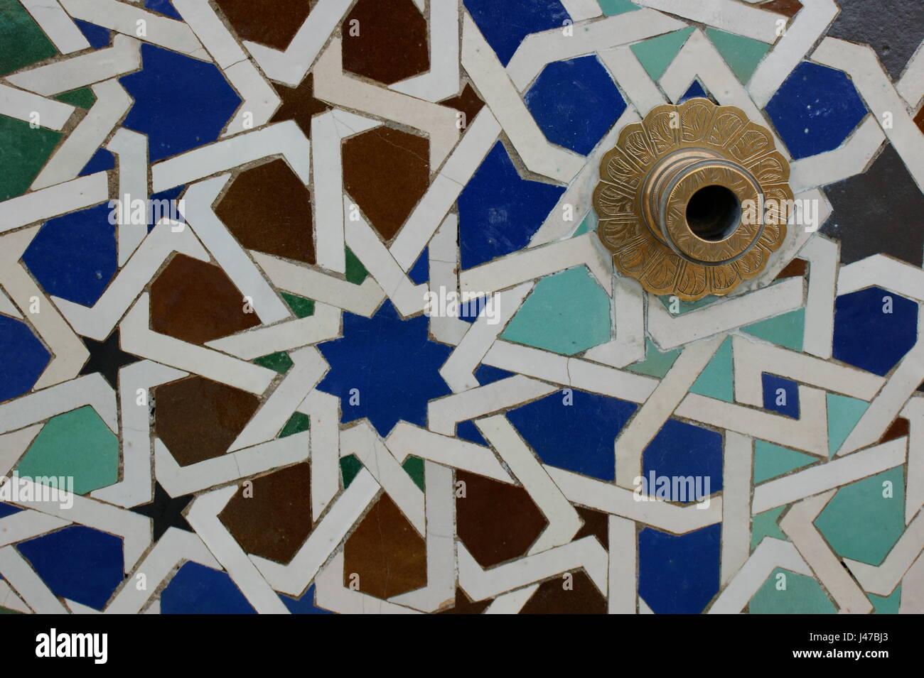 Zellij Oder Mosaik Fliesen In Rabat Marokko Stockfoto Bild - Mosaik fliesen marokko