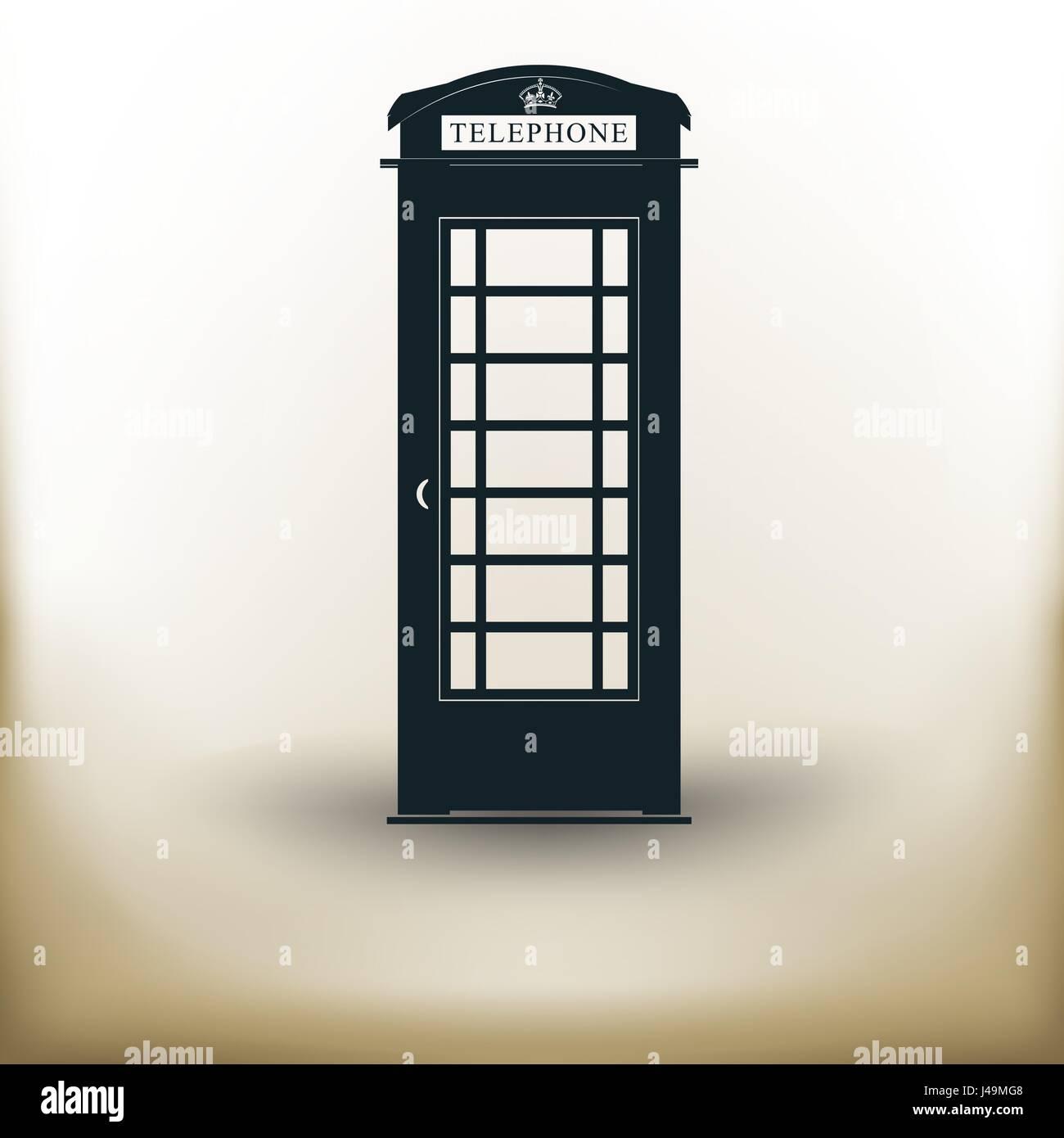 Einfaches Telefon Kabine Vektor Abbildung Bild 140355272 Alamy
