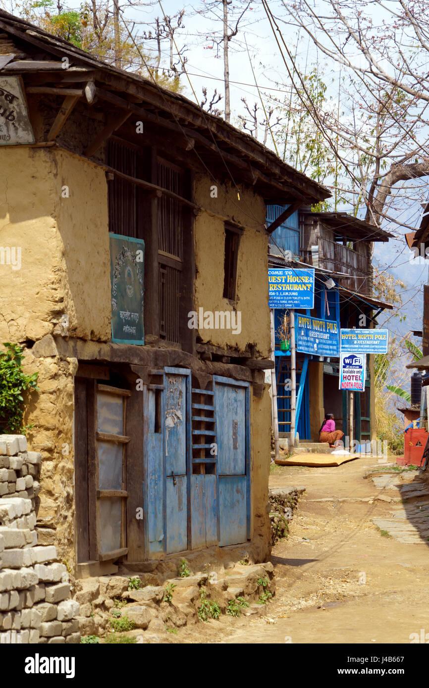 Dorf bahundanda, Annapurna region, Nepal. Stockbild